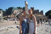 Jamie and I in the Roman Forum