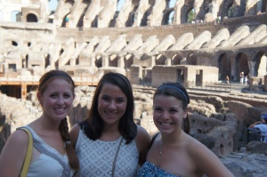 Jamie, Nina and I in the Colosseum