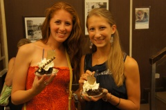 McKenna and I with our Tartufo's
