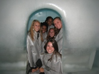 Our Mini-Igloo in the Ice Bar