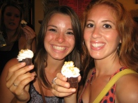 Jamie and I with our Chocolate Shots